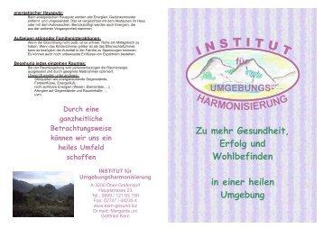 Folder Institut A5 neu 18.07.2006 - Dr. Margarita Kern