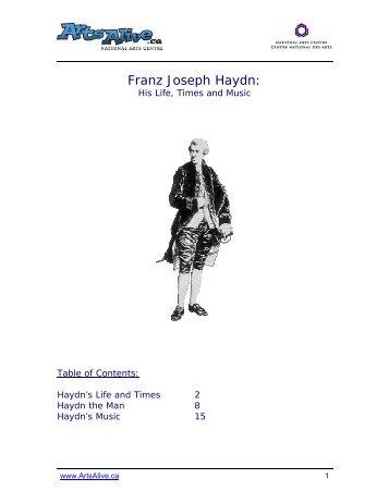 Franz Joseph Haydn: - ArtsAlive.ca