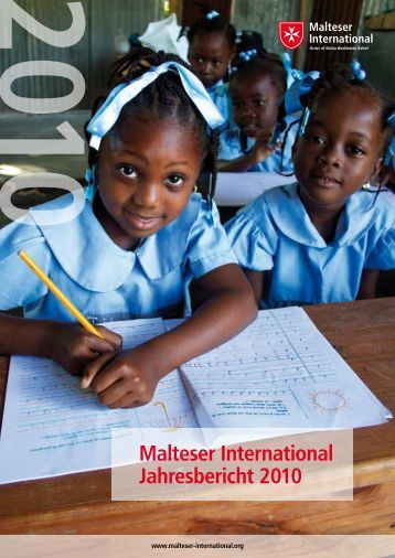 Malteser International Jahresbericht 2010 - Ordine di Malta