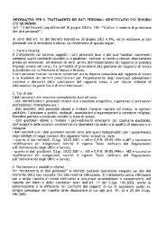 Informativa per il trattamento dei dati personali - Provincia di Monza ...