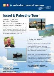 Israel & Palestine Tour - Mission Travel