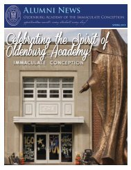 Spring 2013 Alumni Newsletter - Oldenburg Academy
