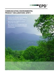 Download Communicating EPDs - The International EPD® System