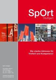 Die starke Adresse für Vielfalt und Kompetenz! - SpOrt Stuttgart