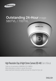 Outstanding 24-Hour image - Samsung CCTV