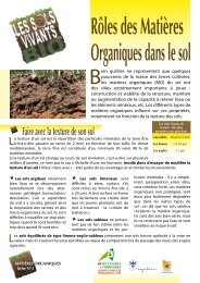 Rôle des matières organiques dans le sol - CAS