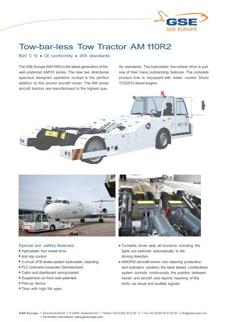 Tow For Less >> Tow Bar Less Tow Tractor Am 110r2 Onground