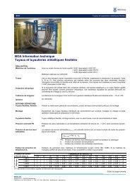 Information techniques Tuyaux métalliques flexibles - BOA Group