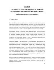Evaluación de ocho portainjertos en Thomson seedless bajo ... - INIA