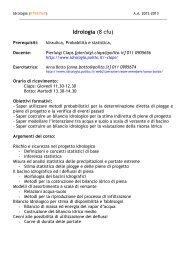 Idrologia (8 cfu) - idrologia@polito
