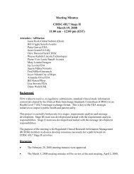 Meeting Minutes - HL7 Wiki