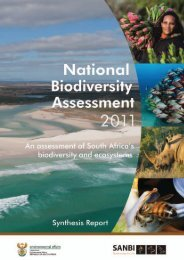 NBA 2011 synthesis report (low resolution) - Biodiversity GIS - SANBI