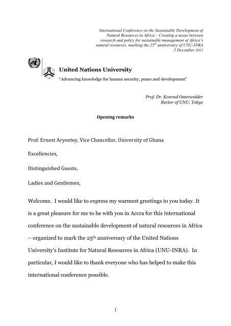 Prof. Ernest Aryeetey, Vice Chancellor, University of Ghana ...