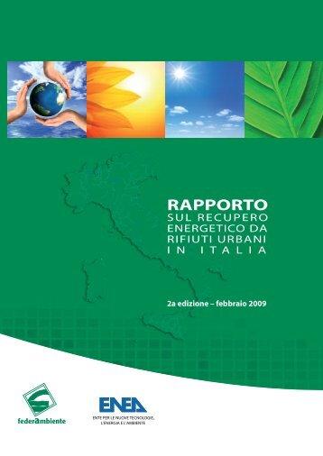 Rapporto sul recupero energetico da rifiuti urbani in Italia - Enea