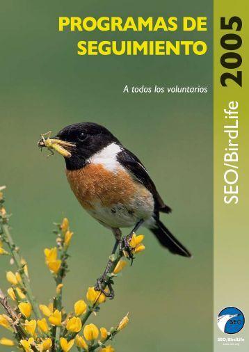 PROGRAMAS DE SEGUIMIENTO SEO/BirdLife
