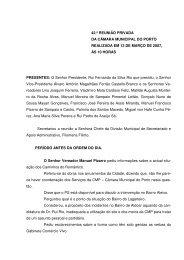 Acta da Reunião de 13 de Março de 2007 - Câmara Municipal do ...