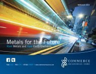 Metals for the Future - Commerce Resources Corp.