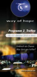 Programm- 2010 (PDF-File) - Way of Hope
