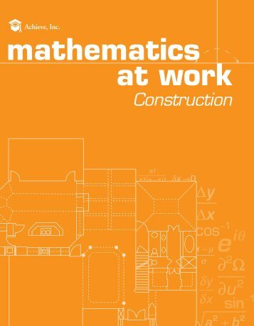 Mathematics at Work -- Construction - Achieve