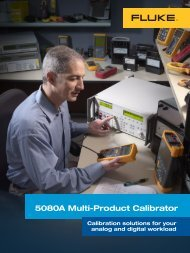 5080A Multi-Product Calibrator: expanded ... - MB Electronique