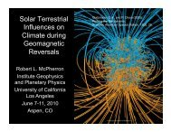 Climate during Geomagnetic Reversals - Aspen Global Change ...