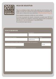 Formulario de inscripción - Resad