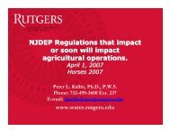 NJDEP Regulations that impact or soon will impact agricultural ...