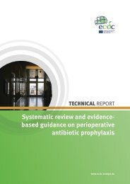 Systematic review and evidence- based guidance ... - ECDC - Europa