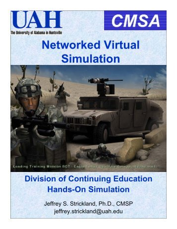 Networked Virtual Simulation - Simulation Educators