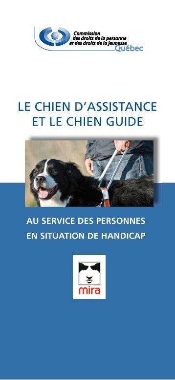 Le chien d'assistance et le chien guide au service des ... - CDPDJ