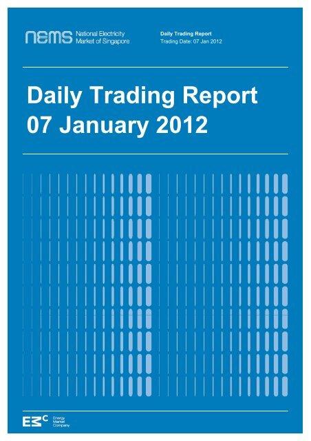 Daily Trading Report 07 January 2012 - EMC