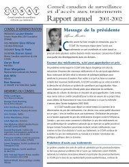 Rapport général annuel 2002 - Canadian Treatment Action Council