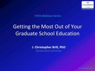 Getting the Most Out of Your Graduate School Education