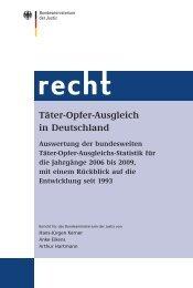 Täter-Opfer-Ausgleich in Deutschland - Bundesministerium der Justiz