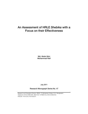 An Assessment of HRLE Shebika with a.pdf - Bangladesh Online ...