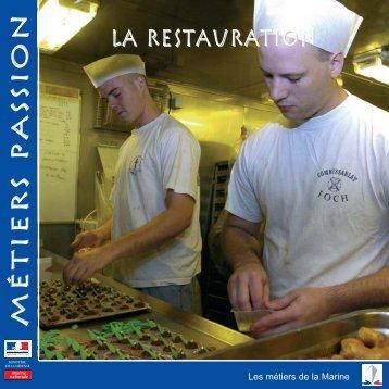 La restauration Métiers passionMétiers passion - Marine et Marins