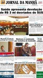Saúde apresenta devolução de R$ 3 mi ... - Jornal da Manhã