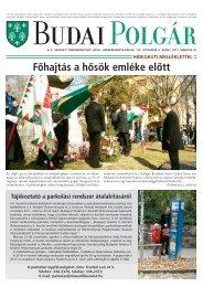 Fôhajtás a hôsök emléke elôtt - II. kerület