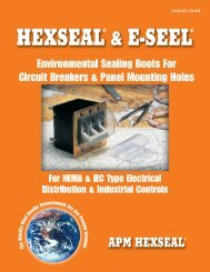 Environmental Sealing Boots For Circuit Breakers & Panel Mounting ...