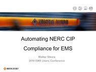 Automating NERC CIP Compliance for EMS - EMS Users Conference