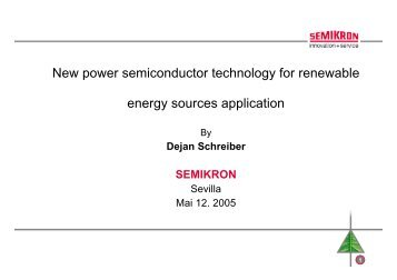 New power semiconductor technology for renewable energy ...