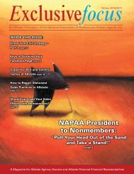 NAPAA President to Nonmembers: - National Association of ...