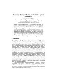 Reasoning Multiagent System for Distributed System Management*