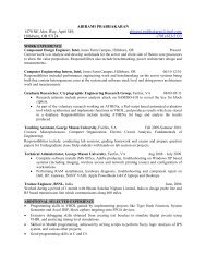 Resume - Cryptographic Engineering Research Group - George ...