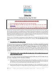 Thông báo Chương trình Học bổng VEF 2012