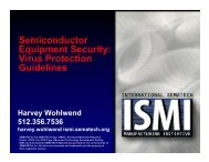 Semiconductor Equipment Security: Virus Protection ... - Sematech