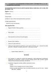 10.3 – ALLEGATO B: DICHIARAZIONE DI REGOLARITA ...
