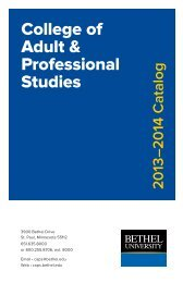 2013-2014 Catalog - College of Adult & Professional Studies