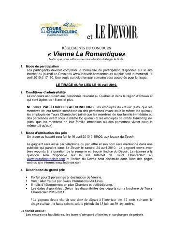 « Vienne La Romantique» - Le Devoir
