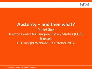 Austerity – and then what? - CFO Insight